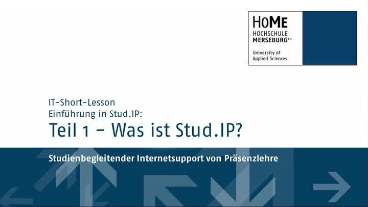 IT-Lessons:Stud-IP Teil 1/6 – Was ist Stud.IP?