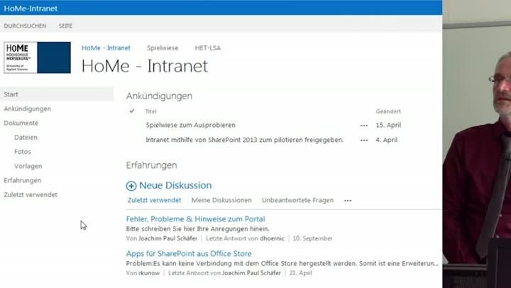 IT-Lessons:Sharepoint Teil 2/6 – Anmeldung