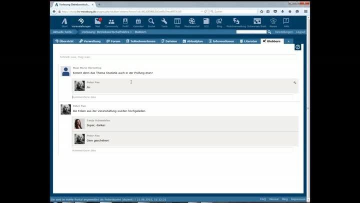 Der Veranstaltungsblubber im HoMe-Portal